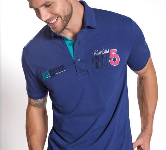 Camisa Polo Casual ALLNITRO. Piquet Stretch.